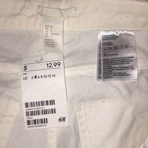 H&M Shorts - White shorts size 4 womens